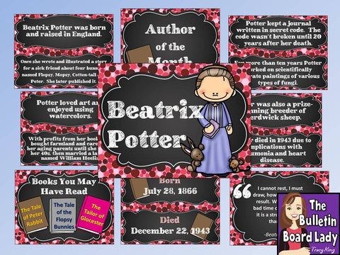 Author of the Month Beatrix Potter-Bulletin Board and More!