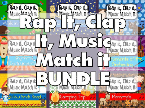 Rap It, Clap It, Music Match It BUNDLE