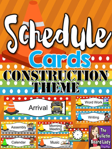 Schedule Card - Construction Theme