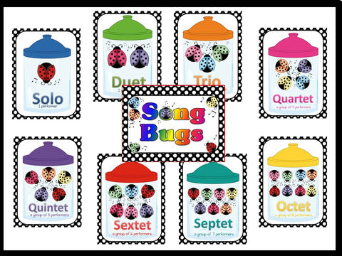 Song Bugs Solo, Duet, Trio, etc.. Bulletin Board Kit