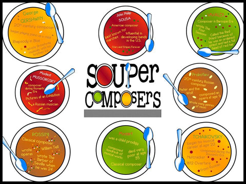 SOUPer Composers Bulletin Board Kit for Music Class