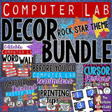 Computer Lab Decor BUNDLE - Rock Star