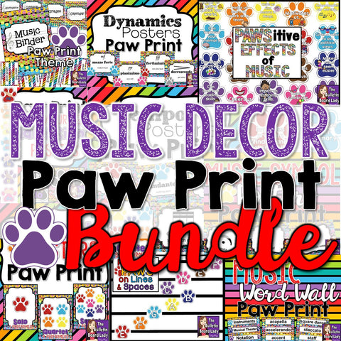 Music Decor Bundle - Paw Print