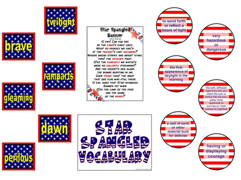 Star Spangled Vocabulary Bulletin Board