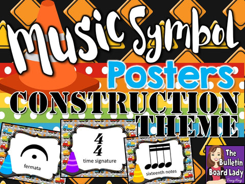 Music Symbol Posters Construction Theme