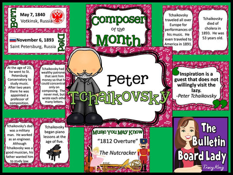 Composer of the Month Tchaikovsky Bulletin Board and Writing Activities