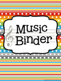 Music Teacher Binder – Construction Theme
