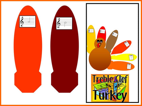 Treble Clef Turkey -Thanksgiving Bulletin Board for Music Class