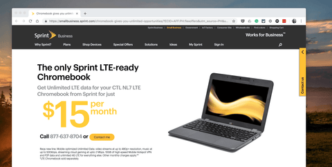 CTL Launches Chromebook with Integrated LTE Data from Sprint