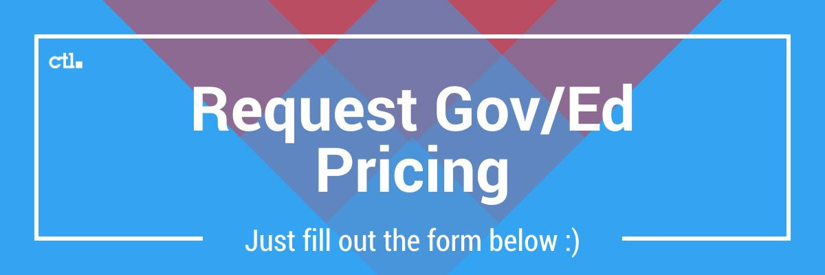 Request Gov/Ed pricing from CTL