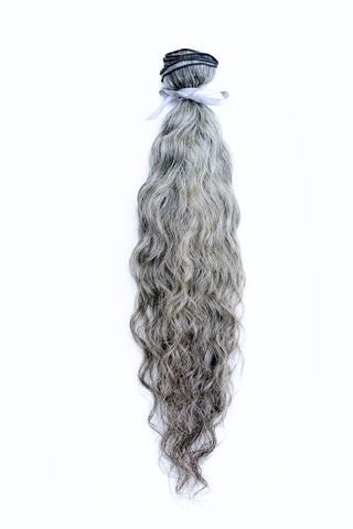 Grey Indian Curly 10''-28''