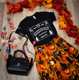meow spirit board graphic tee - modcloth knocked me off  halloween kitty ouiji board by kittees