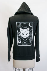 The CAT- Zip Up Hoodie, Black