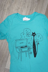 Hip Kitty- Teal