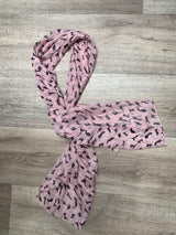 Kitty Print Scarf- Ivory