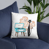 Hip Kitty- Throw Pillow