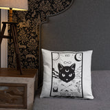 The Cat, Throw Pillow