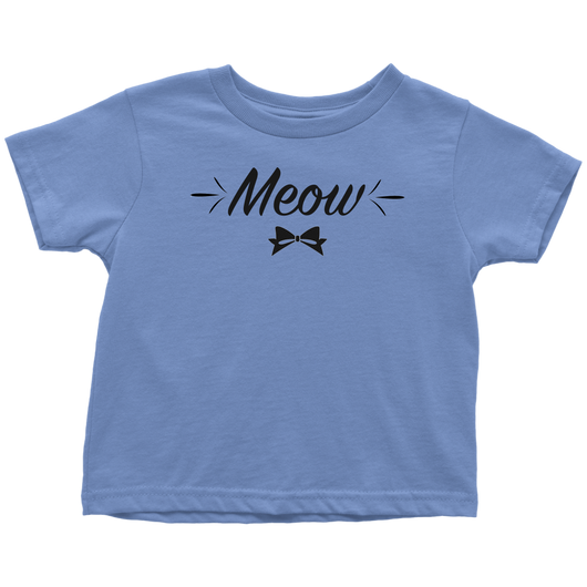 Toddler Tee- Meow, Blue
