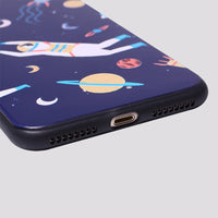 iPhone Space Wanderers Hard Rubber Bumper Case