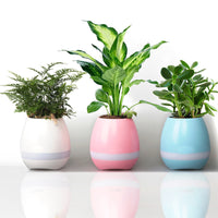 Smart Bluetooth Speaker Flowerpot with Multicolor LED Light