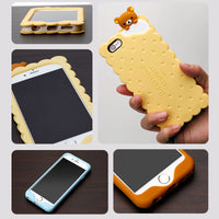 iPhone 3D Biscuit Soft Silicone Coque Case