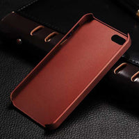 iPhone Vintage Leather Back Case