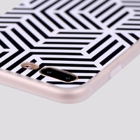 iPhone Color Mix & Stripes Silicone Case