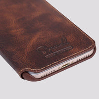 Leather Flip Cover iPhone Case