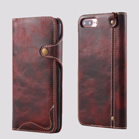 Worn-out Leather Snap Clip iPhone Case