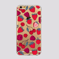 iPhone Tropical Fruits Soft Silicone Clear Case