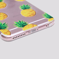 iPhone Pineapple Desire Soft Silicone Clear Case