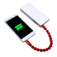 Pearly USB Phone Charger Bracelet - For iPhone & Android
