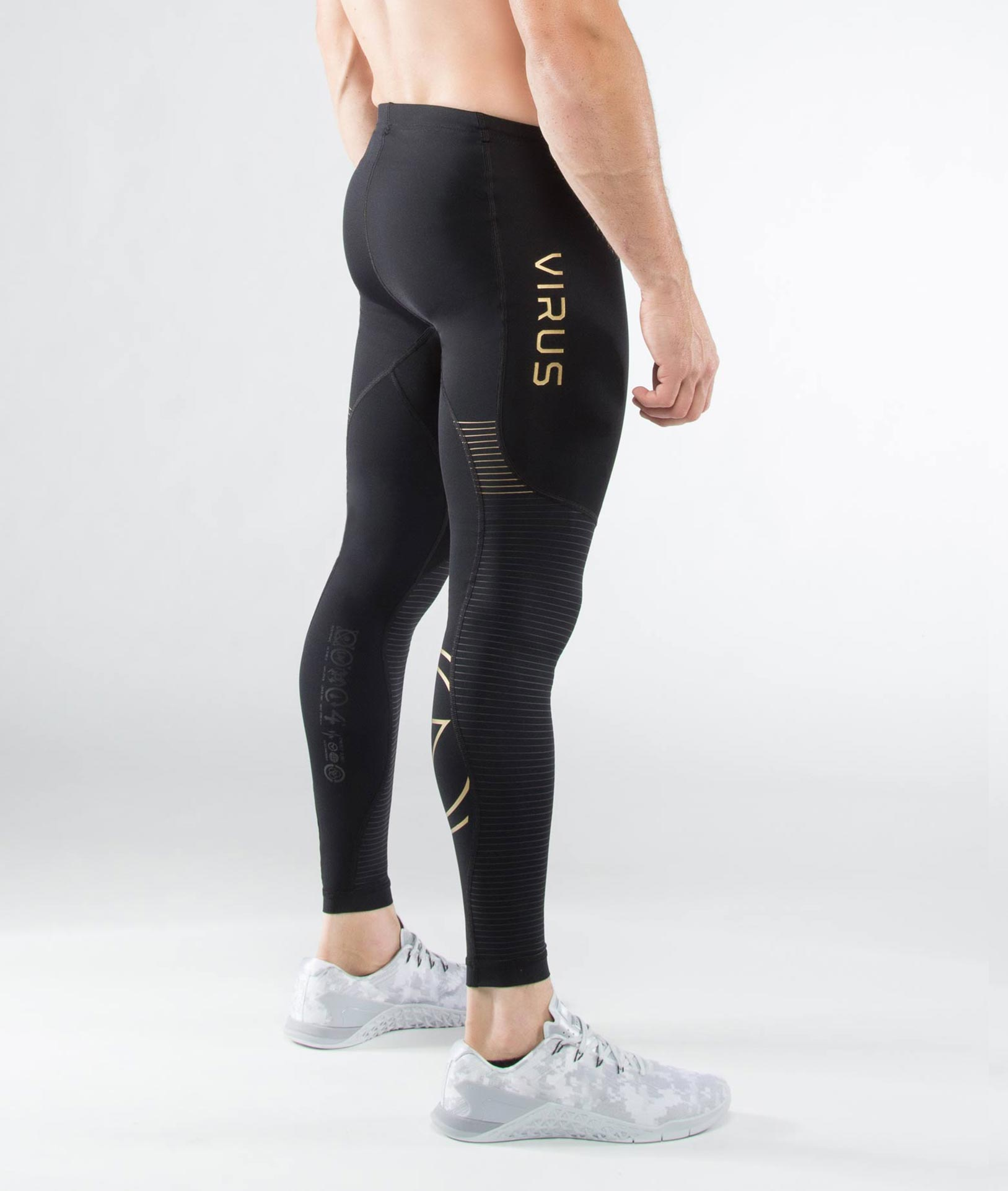 Men's Bioceramic™ Compression V3 Tech Pants (Au9X) Black/Gold