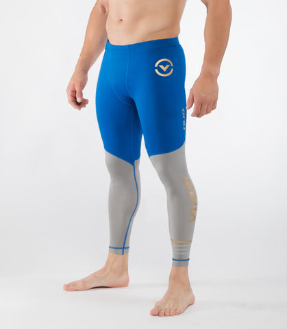 Men's Bioceramic™ Compression Tech Pants (AU8.5) Electric Blue/Grey