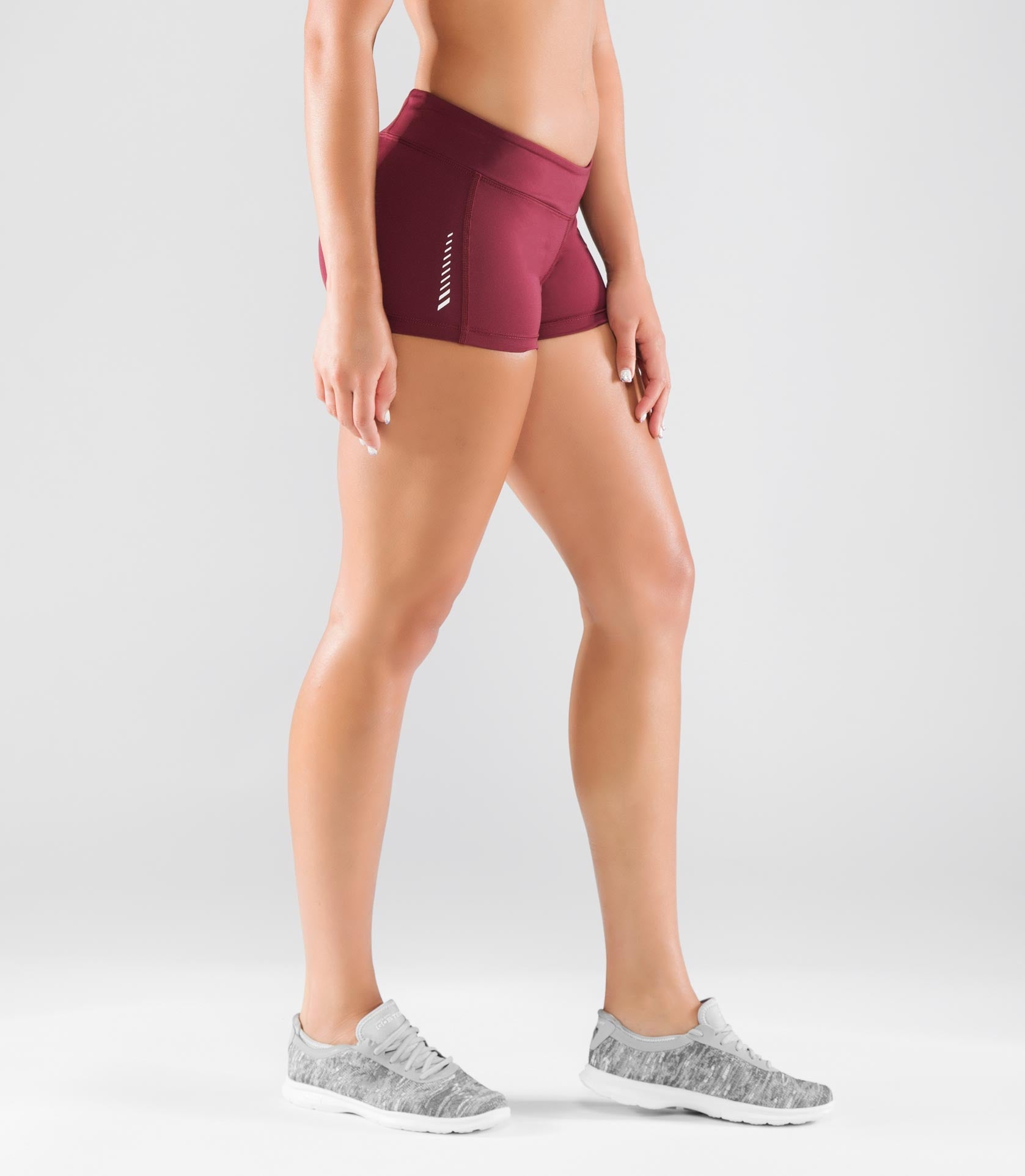Women's Stay Cool DATA Training Short (ECo22)- Maroon