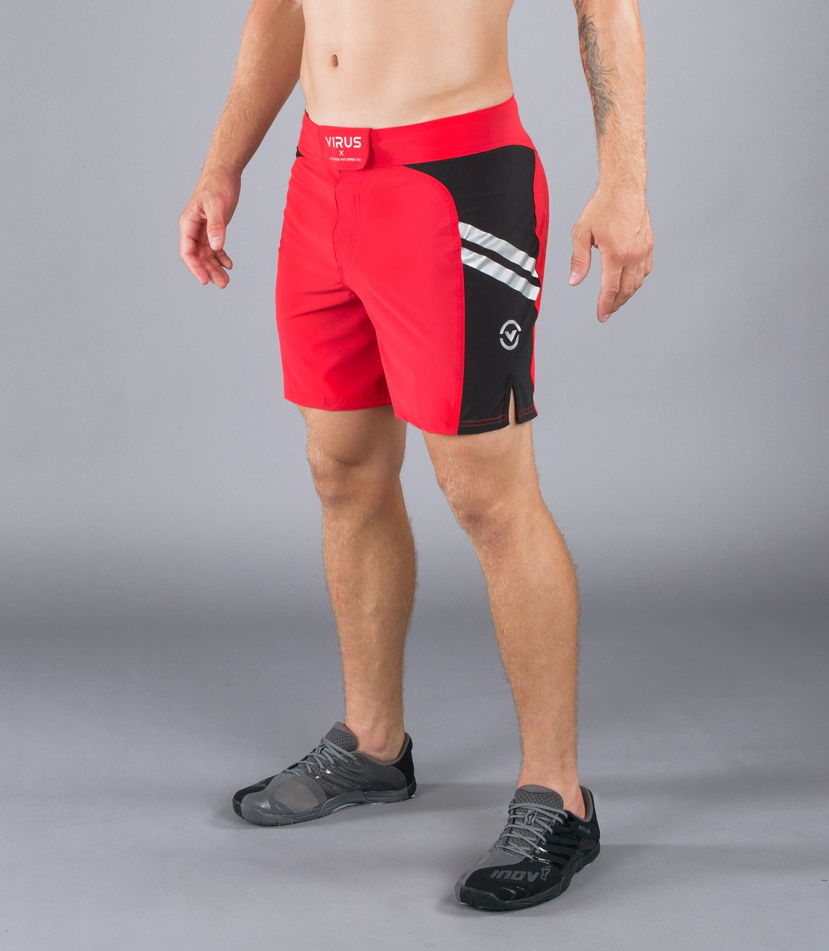 Men's Disaster Combat Shorts (ST2)- Red/Black