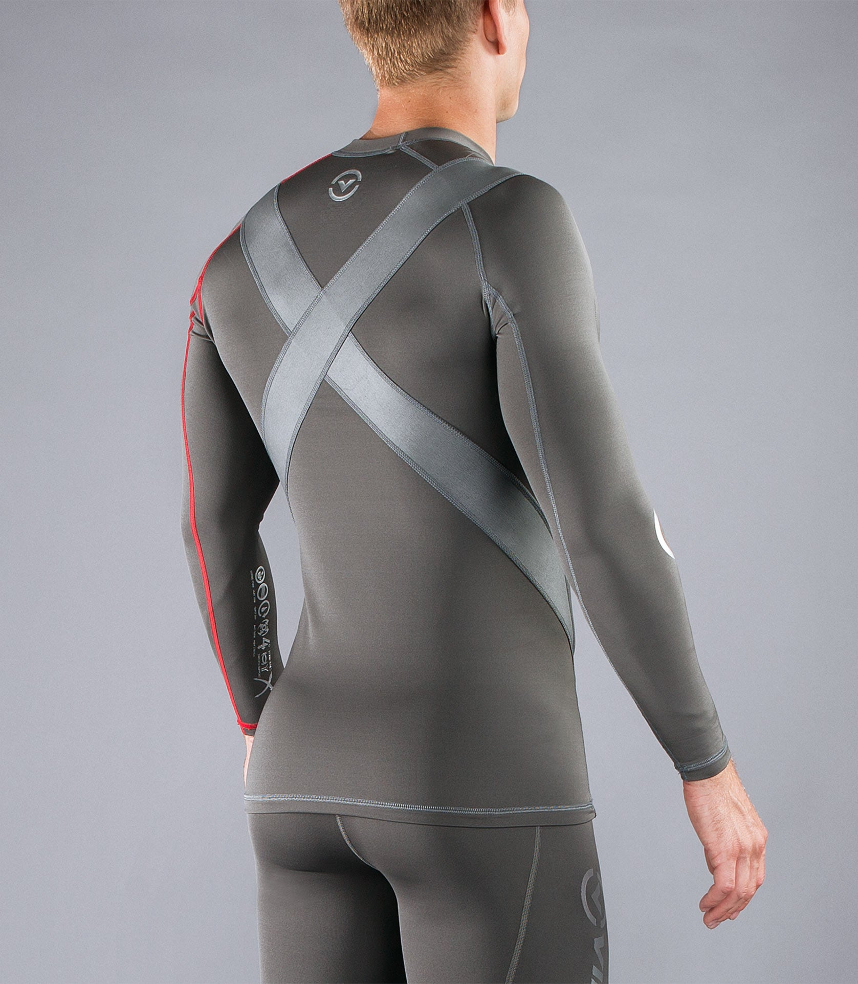 Men's Stay Warm Long Sleeve X-Form Compression Crew Neck (SiO5X)