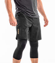Au53 | Racer 3/4 Compression Pants - Limited Edition BLACKCAMO GOLD
