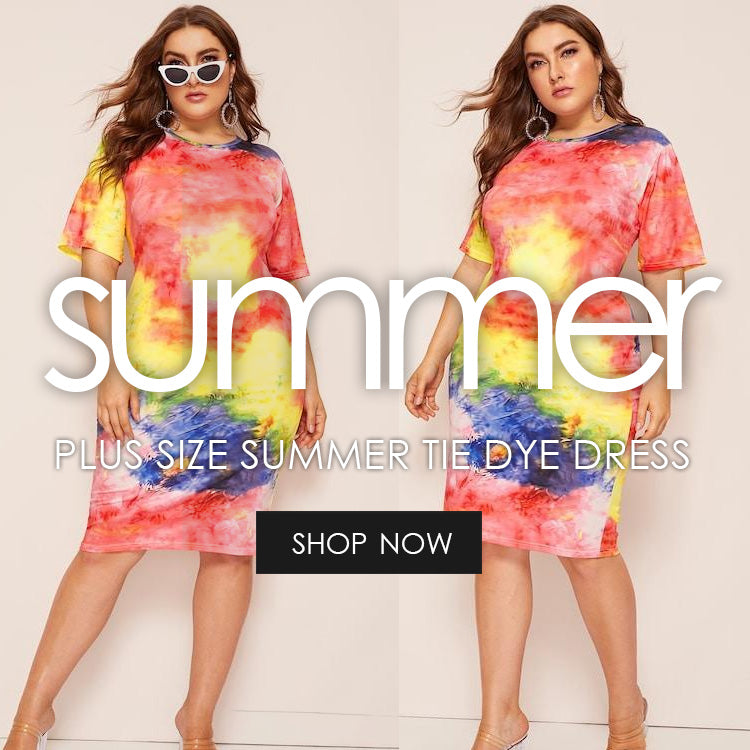 c270e51a058 Plus Size Tie Dye Bodycon Dress