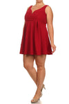 Plus Size Sweetheart Red Skater Dress