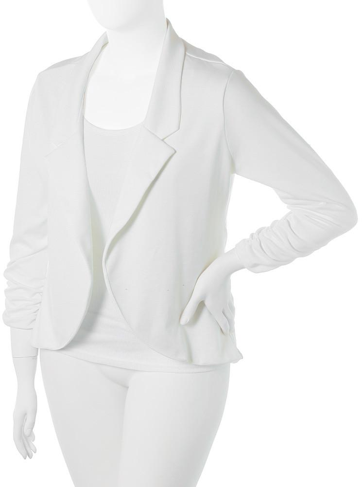 7f8ac0f59d6 Plus Size Sleek Open Front White Blazer