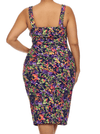 Plus Size Tropical Paradise Floral Dress