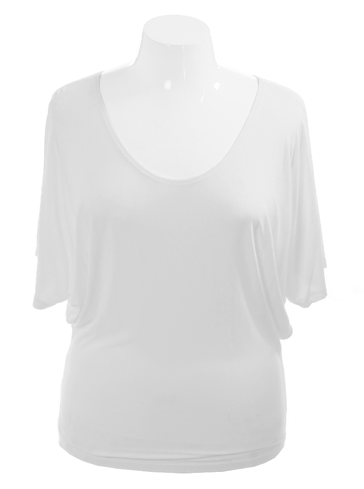 Plus Size Chic Essential White Top