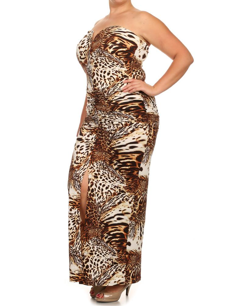 Plus Size Cat Walk Mermaid Maxi Dress