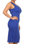 Plus Size Glamorous Midi Blue Dress