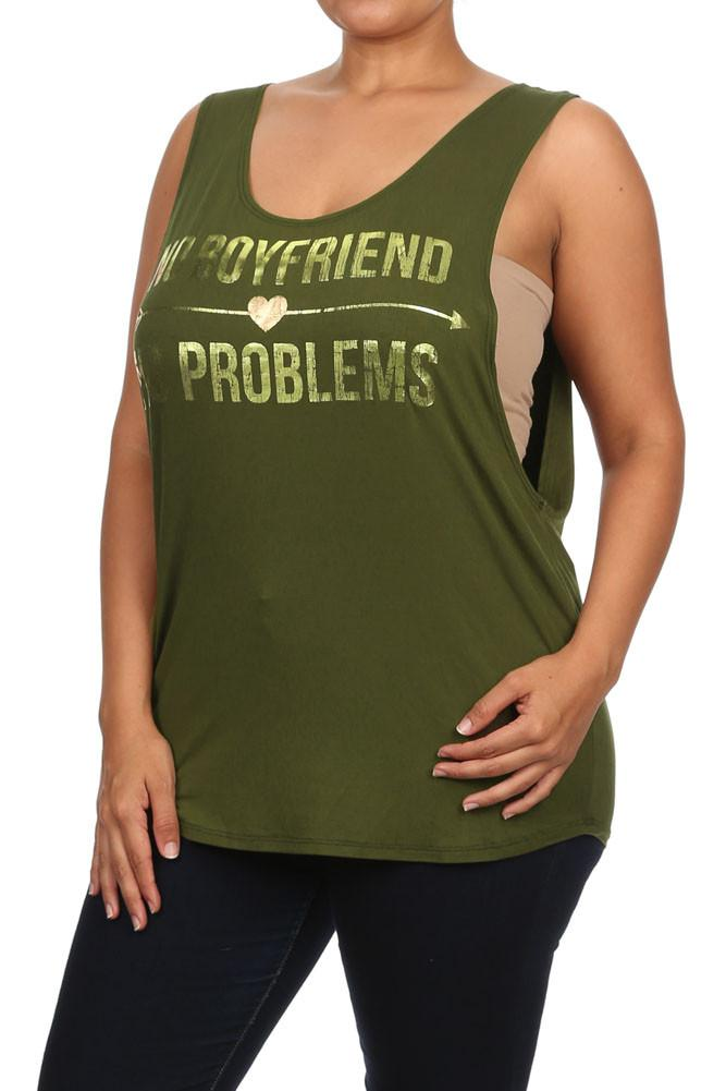Plus Size No Boyfriend No Problems Top