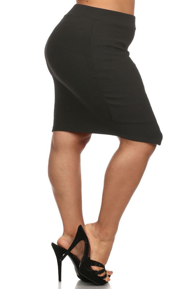 Plus Size Smooth Operator Jagged Hem Skirt