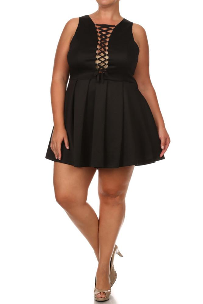 Plus Size Midnight Crush Lace Dress