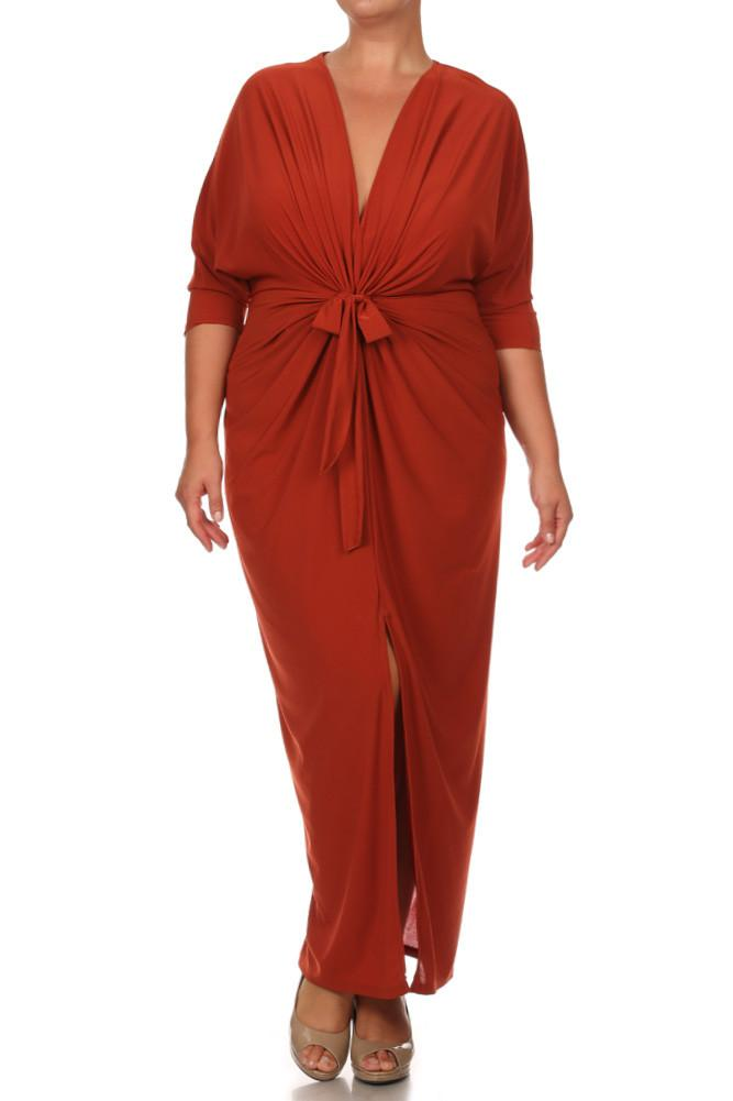 Plus Size Captivating KimonoMaxi Dress