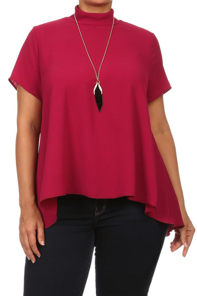 Plus Size Holiday Party Necklace Sheer Top